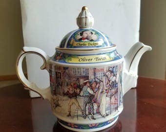 Antique Sadlers Oliver Twist themed Tea Pot