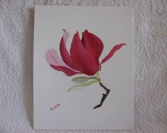 Magnolia Flower, Original Oil Painting.