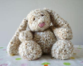 Snuggle Bunny - Beige, Blue, & Brown! *Made to Order*