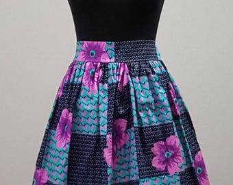 READY To Ship- African print Mini ruffle skirt,high waist skirt,Ankara skirt African clothing skirt