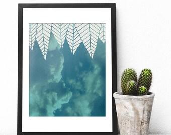 Blue Cloud Printable Art, Sky Blue Print, Minimalist Wall Art, Cloud Poster, Cloud Photography, Minimalist Geometric, Soft Blue Cloud, Cloud