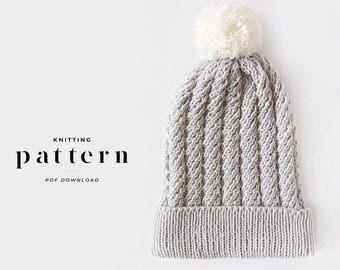 Hat Knitting Pattern Double Pom Pom Hat Pattern Toddler