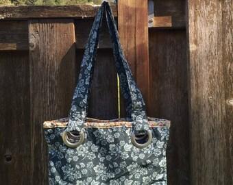 Dusty Blue Grommet Bag