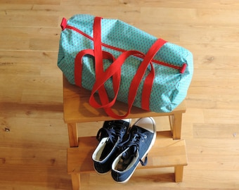 sports bag, pool, for holiday red duffel bag