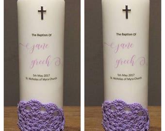 Baptism candle, Baptism candle for girls, christening, christening candle