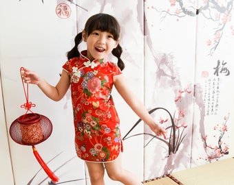 chinese style cheongsam  handmade for 1-10 girl