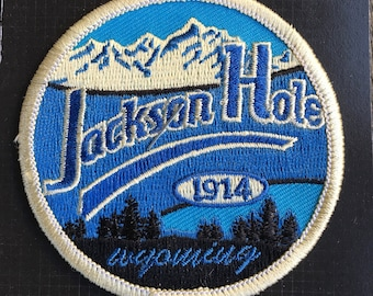 Jackson Hole Wyoming Vintage Souvenir Travel Patch from Great Mountain West Supply - LAST ONE!