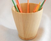 Graduation gift, Gift under 15 dollars, Wood toothpick cup, Pine wood cup, white wood, toothpick holder,