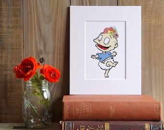 Tommy Pickles, Rugrats, Cartoon, Nickelodeon, Frida, Frida Kahlo, Art Print