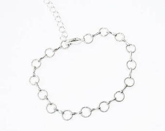 Support bracelets charms in silver