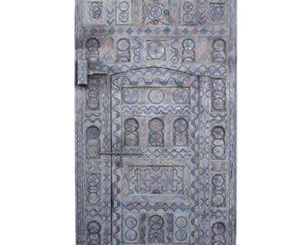 Moroccan Multicolor Carved Tribal Door, Cedar Door, Wood Door, Tribal Door, Wood Carved Door, Wooden Door, Antique Door, Moroccan Door