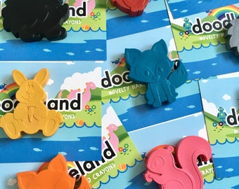 Woodland Animal Crayons Party Favours x10 | Woodland Birthday Party | Kids Wedding Favors | Party Bag Fillers | Animal Crayons | Party ideas