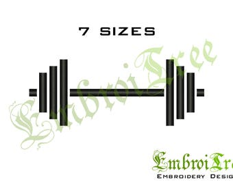Barbell Embroidery Design Dumbbell Machine Embroidery Download Gymnastic Embroidery Pes File