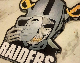 Raiders skull face Sticker