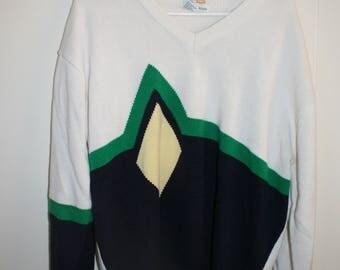 Vtg IZOD Club Argyle golf pullover Sweater XL