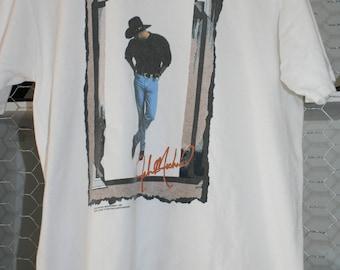 1990s Vtg John Michael Montgomery Concert Tour T Shirt Lrg