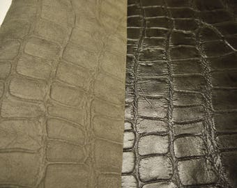 """Alligator Leather piece Panels Top Quality Large 18"""" x 24"""" for ( 3 ) Panels"""