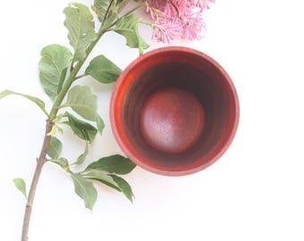 Beautiful Padauk and Walnut bowl