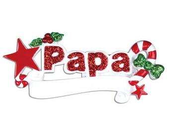 Personalized Papa Ornament