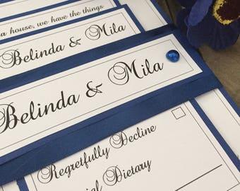 Rustic wedding invitations x50