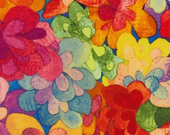 "Emerald Bay D Liberty Fabric tana lawn scrap red pink blue green yellow purple 10"" x 15"" square (25,4 cm x 38 cm) The Weavers Mill"