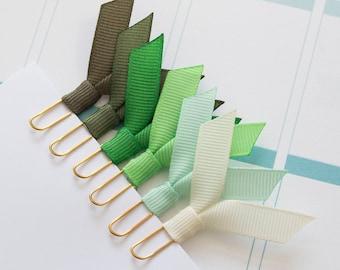 6 small gold planner clips, ribbon clips, paper clips, for planner, agenda, notebook, filofax, midori, bookmark clips