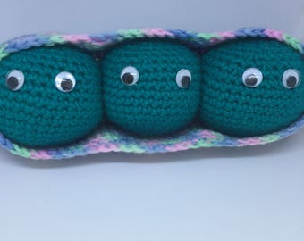 Peas in a Pod Crochet Amigurumi Toy