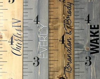 Wood Growth Chart Ruler, Personalized, Custom Growth Chart