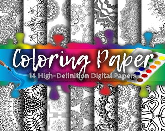 Doodle Paper - Coloring Paper, Adult Coloring Book, Therapy, Chacra, Buddhist, Meditation Paper, Relaxation Paper, Printable, Third Eye