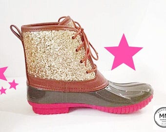 Glitter Duck Boots Women/Girls/Toddlers