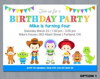 Toy Story Invitation, Toy Story Birthday Invitation, Toy Story Invite, Toy Story Birthday Invite
