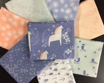 Curated Fabric Bundle featuring Dala Full Fabric Collection by Dear Stella Fabrics - 8 Fat Quarters or 8 Half Yards