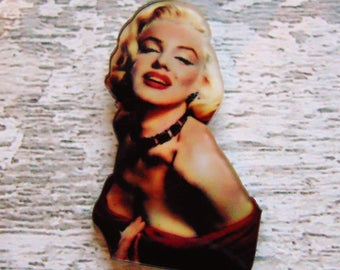 Marilyn Monroe Pin Vintage Hollywood Theme Glam Celeb Image 50s Movie Star Icon Norma Jean Pin Up Girl Blonde Bombshell Celebrity Gift UK