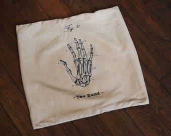 Anatomy hand pillow cover
