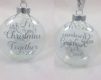 Our First Christmas Together Ornament, Personalized Wedding Ornament, Christmas Ornament