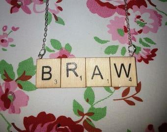 Statement Scrabble Letter Necklace - Braw