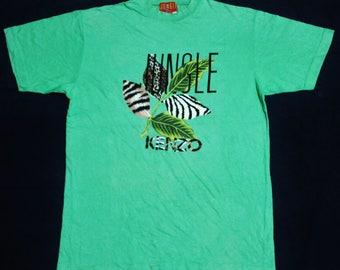 VINTAGE KENZO JUNGLE t shirt japan designer