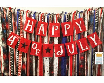 Fourth of July banner, America Banner, 4th of July banner, Fourth of July decor, Patriotic Banner, July 4th decor, Patriotic decorations