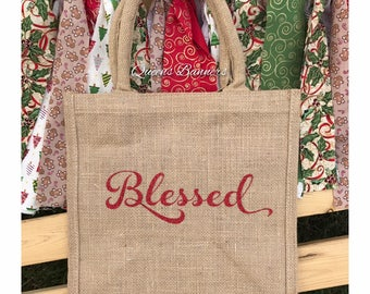 Blessed tote bag, Blessed tote, Blessed bag