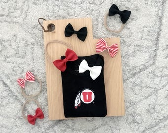 Bow on Headband, Clip, or Bowtie - University Collection