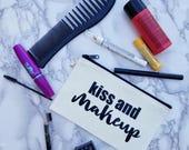 Kiss and Makeup Makeup Cosmetics Bag