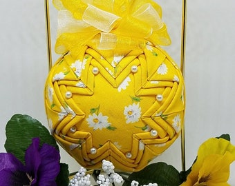 Quilted Fabric Keepsake Ornament It's Sunshine Day