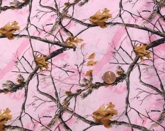 Realtree PINK Camo ~ 100% Cotton Fabric Fat Quarter or Half Yard.... for Quilting & Crafts.  Sykel Enterprises