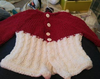 6-12 month 3/4 length sleeves sweater