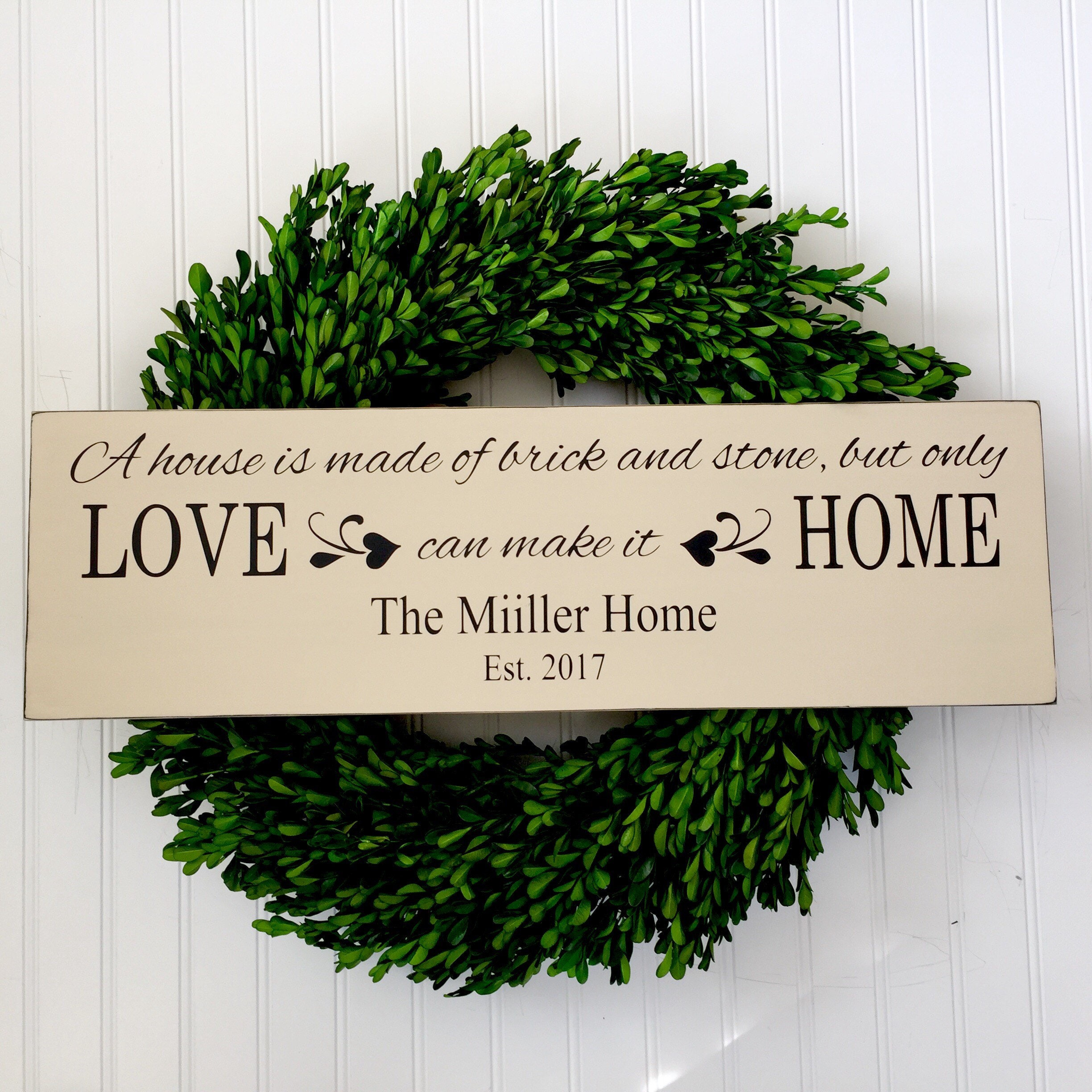 New home sign wedding gift personalized home sign house for New home sign