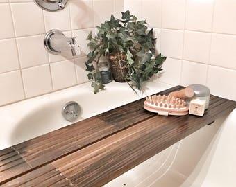 Reclaimed Wood Bathtub Tray; Bathtub Tray; Bathtub Caddy; Wood Bath Caddy