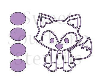 Woodland Fox PYO Cookie Stencil