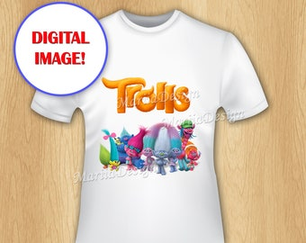 trolls iron on transfer trolls t shirt transfer trolls printable iron on
