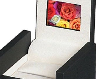 """Ring Box with 2"""" High-definition Screen HD LCD Video Engagement Wedding Anniversary Valentine Birthday"""