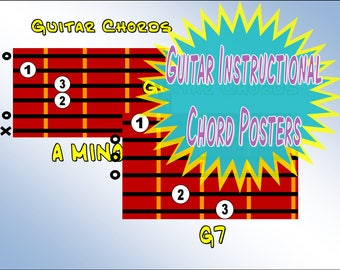 Music Classroom Decor Guitar Chord Posters